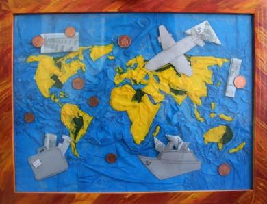 wertvolle Weltkarte