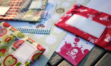 Briefumschläge aus Stoff