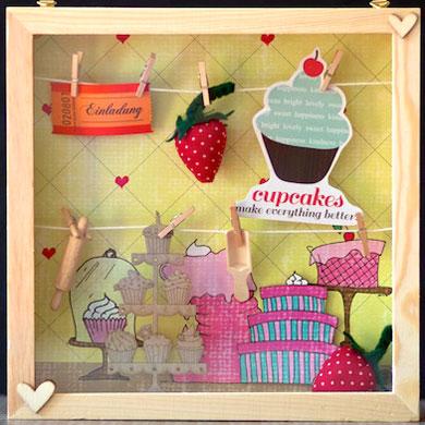 Geschenkrahmen Cupcakes